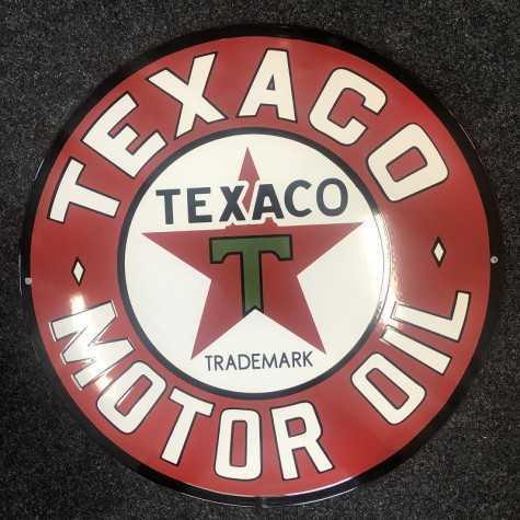Texaco Motor Oil Emaljeskilt Ø 50 cm
