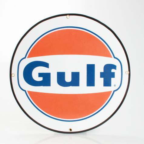 GULF Emaljeskilt Ø 30 cm flad