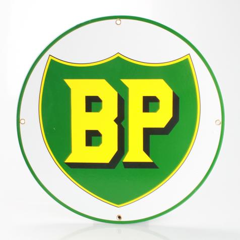 BP Emaljeskilt Ø 30 cm flad