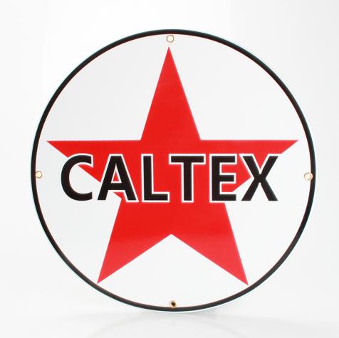 CALTEX Emaljeskilt Ø 30 cm flad