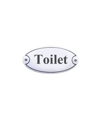 Toilet dørskilt 10 x 5 cm