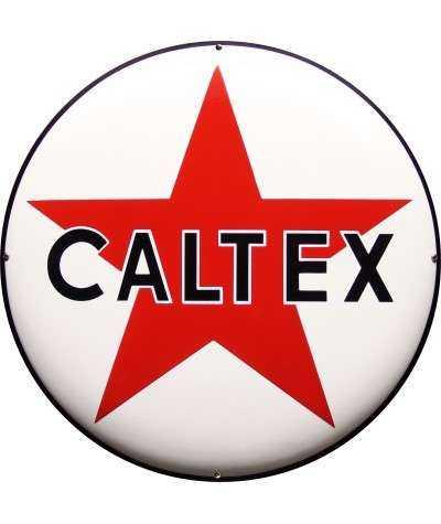 Caltex Emaljeskilt Ø 50 cm