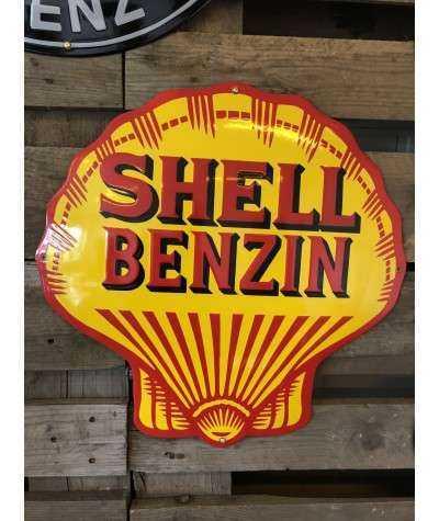Shell Benzin Emaljeskilt Ø 50 cm
