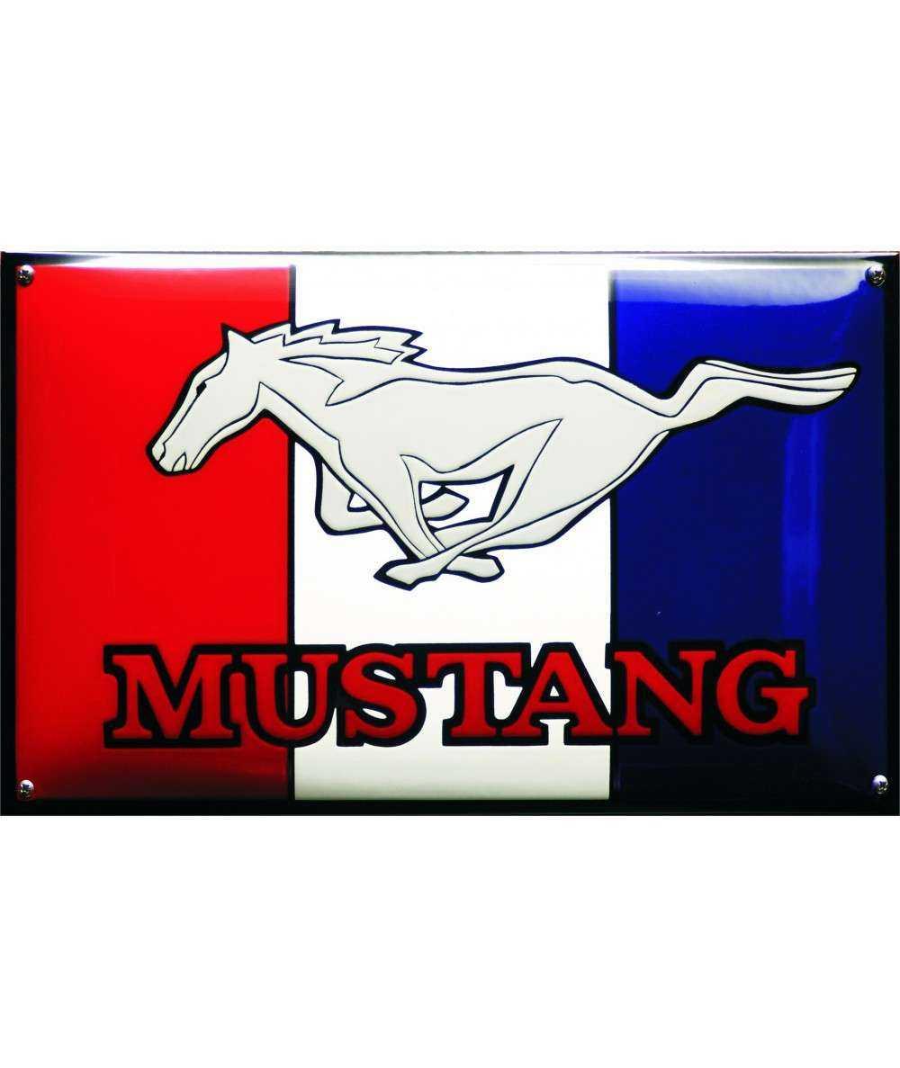 Mustang Emaljeskilt 50 x 30 cm Emaljehuset
