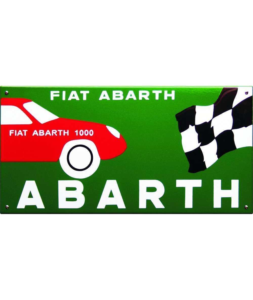 Fiat Abarth Emaljeskilt 50 x 35 cm Emaljehuset