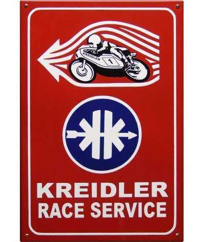Kreidler Race Service Emaljeskilt 40 x 60 m