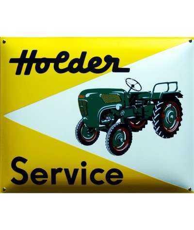Holder Service Gul Emaljeskilt 50 x 40 cm