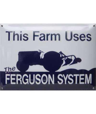 Ferguson System Emaljeskilt 50 x 40 cm