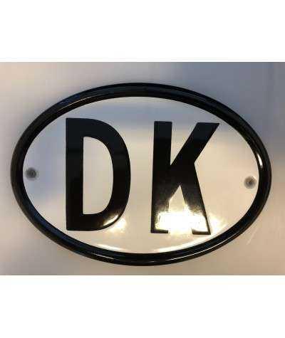 DK emaljeskilt 18,5 x 13 cm huller Horisontalt