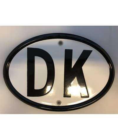 DK emaljeskilt 18,5 x 13 cm huller Vertikalt