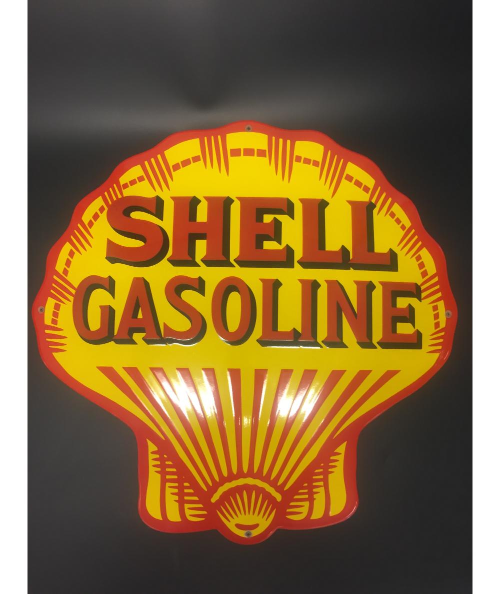 Shell Gasoline Emaljeskilt Ø 50 cm Emaljehuset
