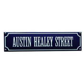 Austin Healey Street 33 x 8 cm Emaljehuset