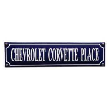 Chevrolet Corvette Place33 x 8 cm Emaljehuset