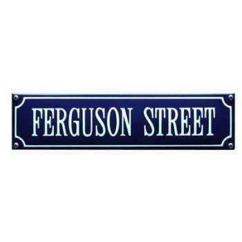 Ferguson Street 33 x 8 cm Emaljehuset