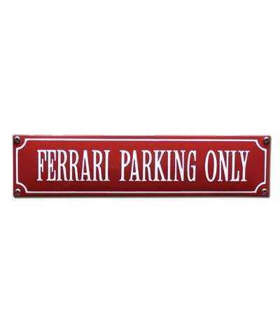 Ferrari Parking Only Rød 33 x 8 cm