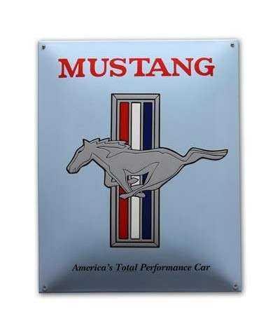 Mustang Emaljeskilt 40 x 50 cm
