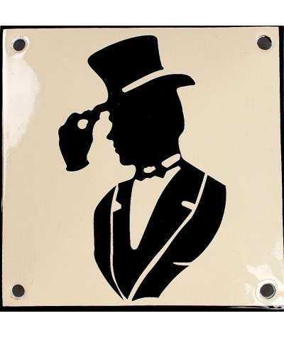 Mand med hat 10 x 10 cm