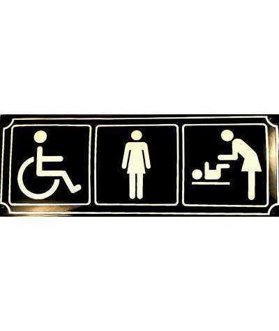 3-i-1 toiletskilt 15 x 39,5 cm