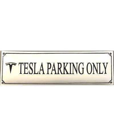 Tesla Parking Only 12 x 40 cm