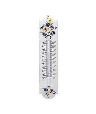 Termometer blomster 6,5 x 30 cm