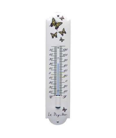 Termometer sommerfugle 6,5 x 30 cm