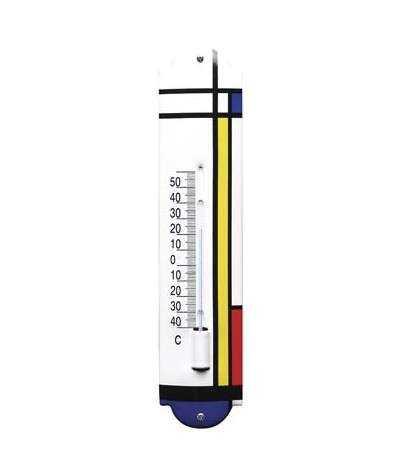 Termometer kunst  6,5 x 30 cm