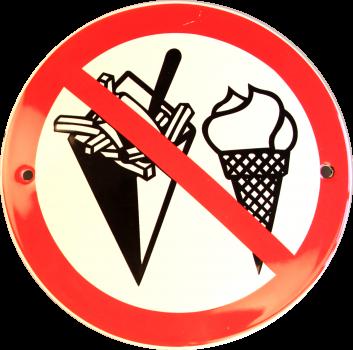 Spisning forbudt Ø 10 cm Emaljehuset