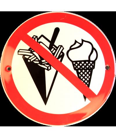 Spisning forbudt Ø 10 cm