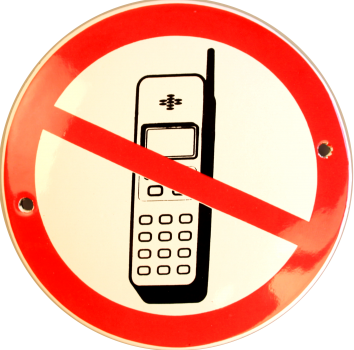 Telefon forbudt Ø 10 cm Emaljehuset