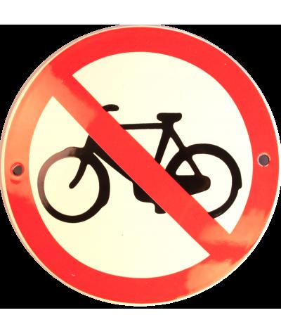 Cykler forbudt Ø 10 cm
