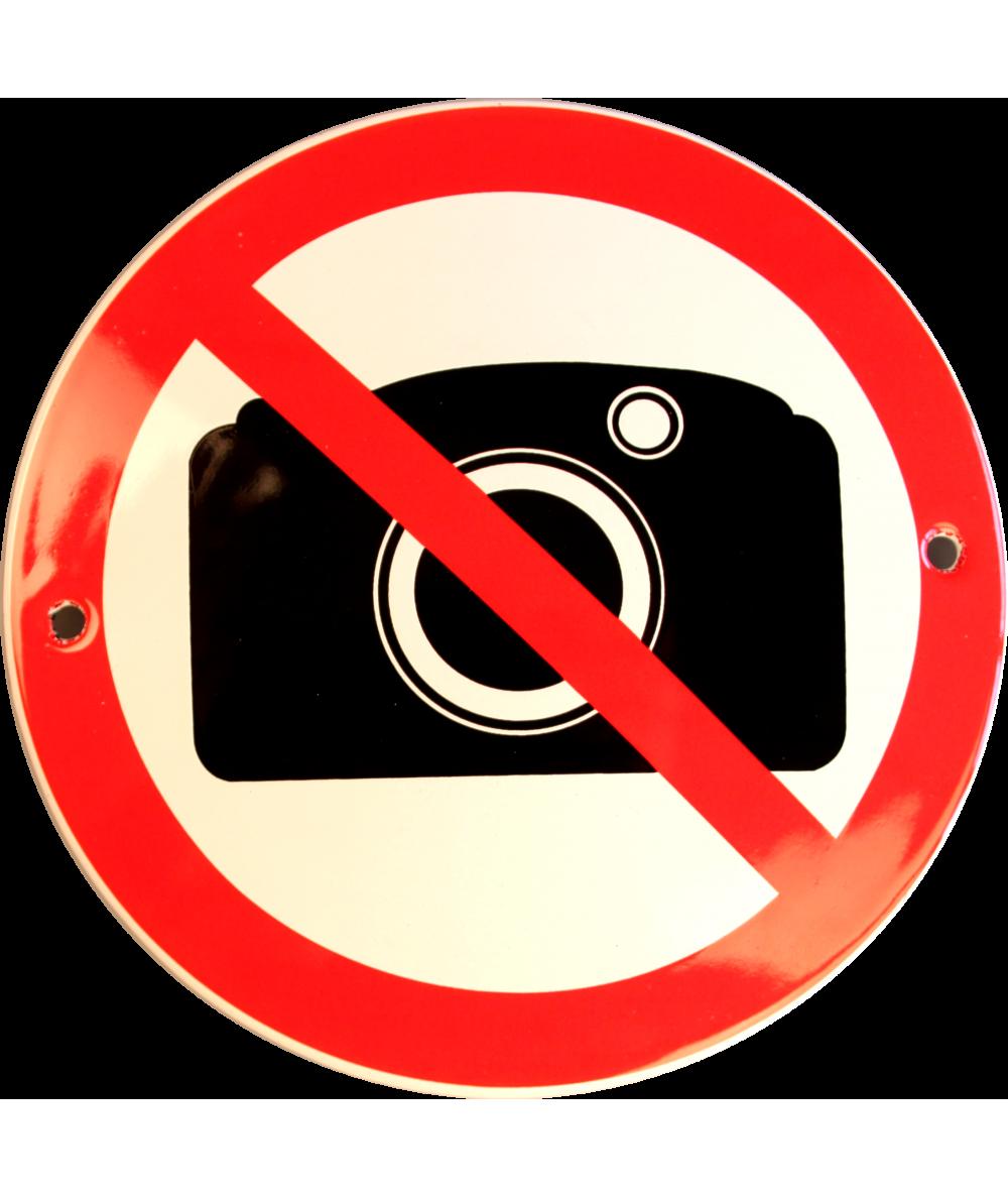 Kamera forbudt Ø 10 cm Emaljehuset