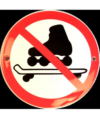 Rulleskøjter mm. forbudt Ø 10 cm