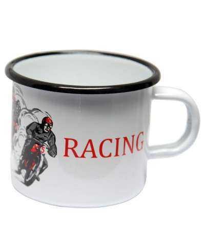 Emaljekrus, Motor - Racing  8 x 8 x 7,5 cm