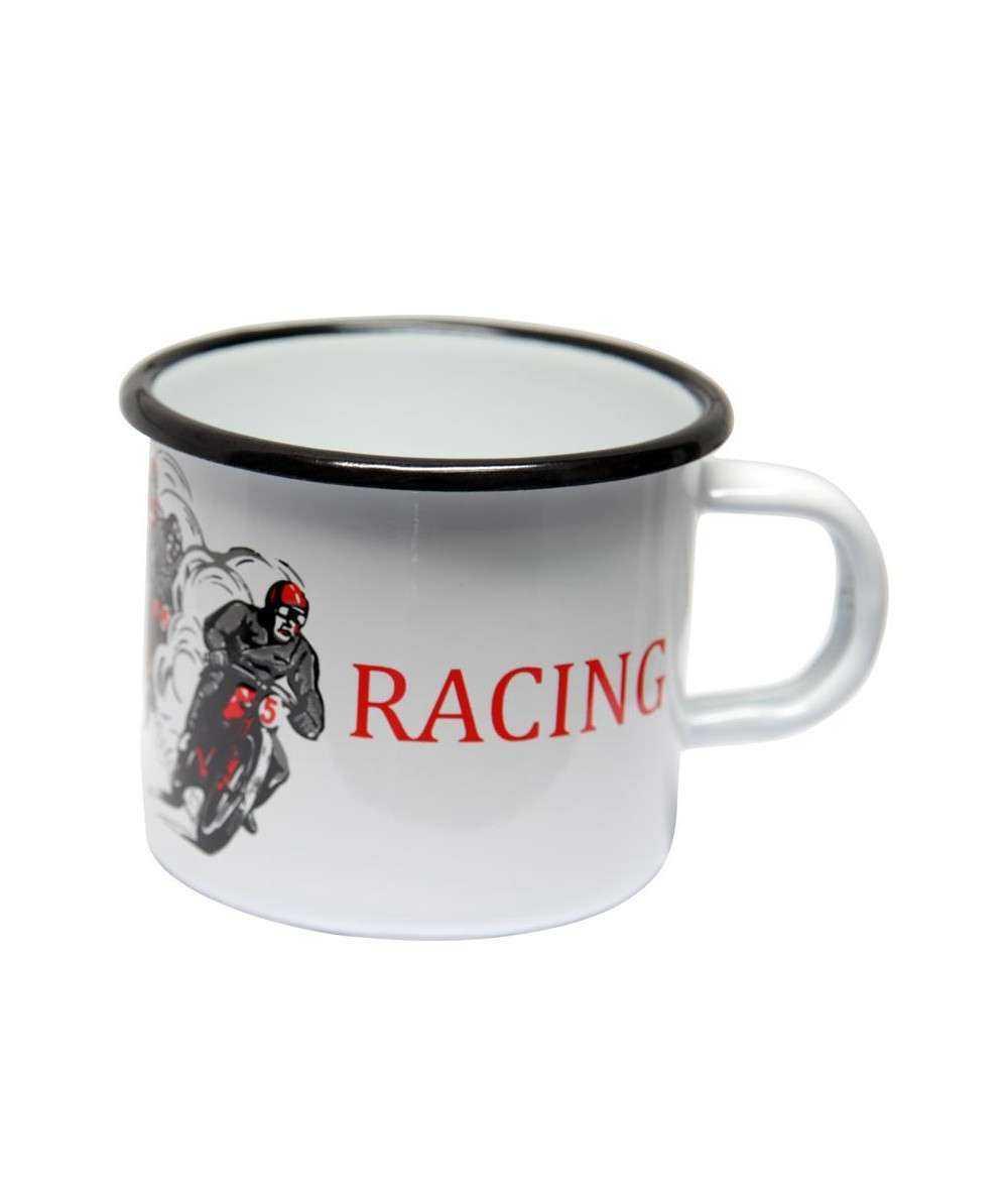 Emaljekrus, Motor - Racing 8 x 8 x 7,5 cm Emaljehuset