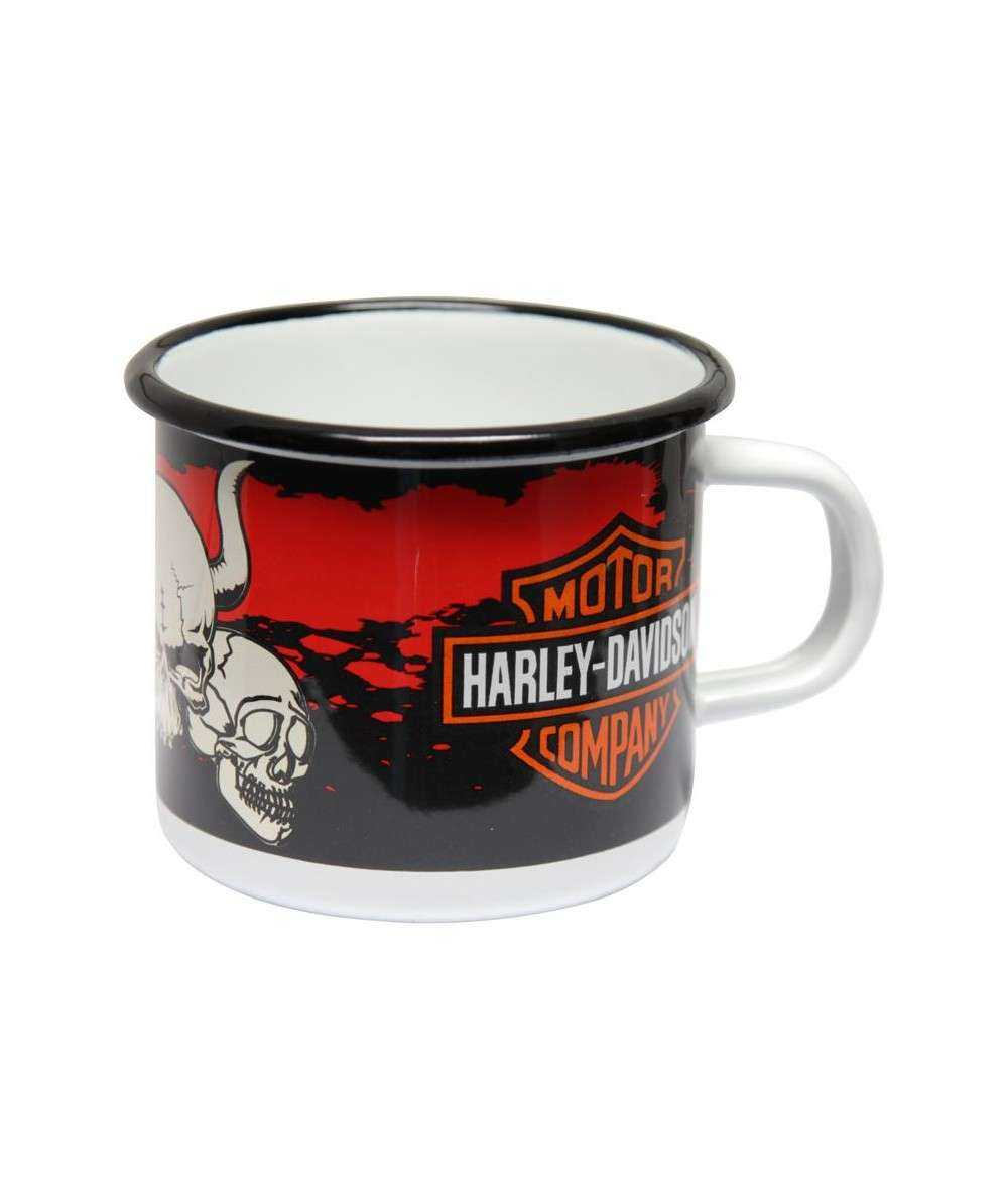 Emaljekrus, Harley Davidson 8 x 8 x 7,5 cm Emaljehuset