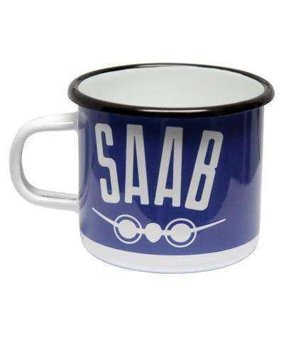 Emaljekrus, Saab  8 x 8 x 7,5 cm