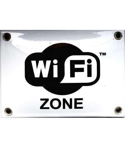 WiFi Zone 14 x 10 cm