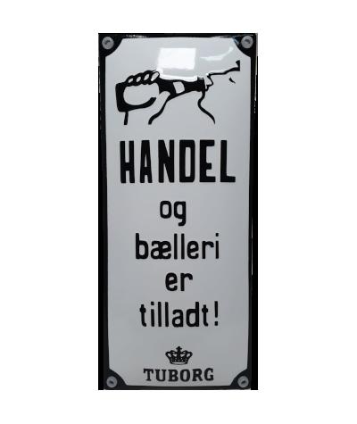 HANDEL OG BÆLLERI ER TILLADT 9,5 x 22 cm